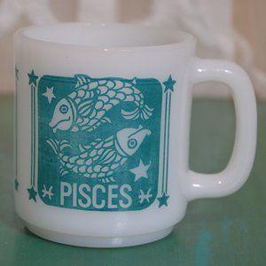Vintage RARE Pisces Fish Zodiac Horoscope Mug